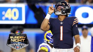 Justin Fields keeps it himself for first career NFL touchdown | Bears vs. Rams | NBC Sports