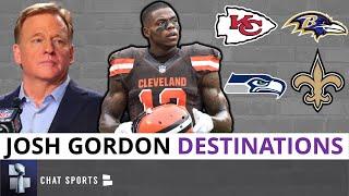 Josh Gordon Rumors: Top 5 NFL Free Agency Destinations For Gordon If Reinstated Ft. Chiefs & Saints