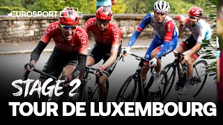 Tour de Luxembourg 2021 - Stage 2 | Highlights | Cycling | Eurosport