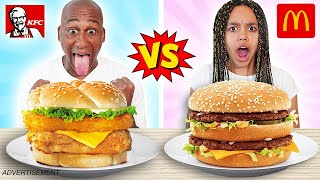 McDONALDS VS KFC REAL FOOD CHALLENGE!!