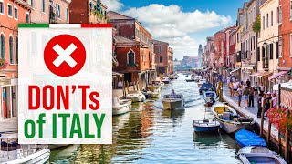 What NOT to do in ITALY - DON'Ts of Italy [2021 Travel Guide]
