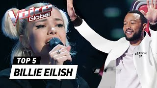 The best BILLIE EILISH Blind Auditions on The Voice